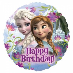 Ballon aluminium - Happy Birthday Reine des Neiges