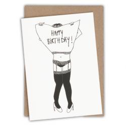 Carte happy birthday jartelle girl-Helen B