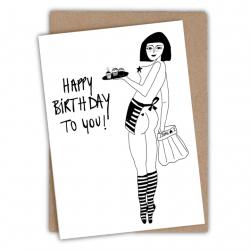 Carte happy birthday pin-up-Helen B