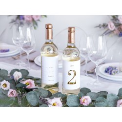Numéro de table de 1 à 15 à coller sur une bouteille