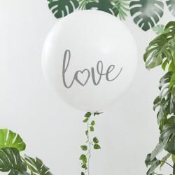 """Ballon géant """"Love"""" & guirlande végétale"""