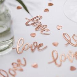 Confettis Love - Cuivre