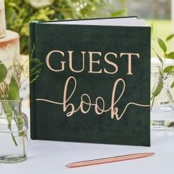 Guest book livre d'or - Velour vert