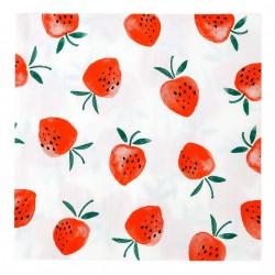 20 serviettes - fraise