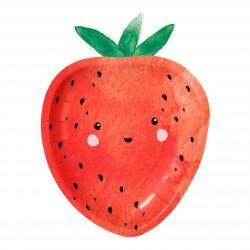 12 assiettes - fraise
