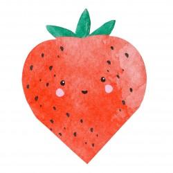 16 serviettes - fraise