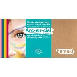 Kit de maquillage Bio 8 couleurs à base d'eau - Arc en ciel