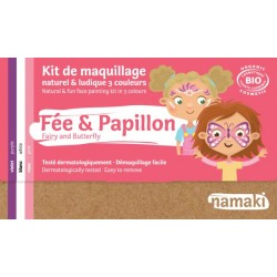 Kit de maquillage Bio 3 couleurs à base d'eau - Fée et papillon