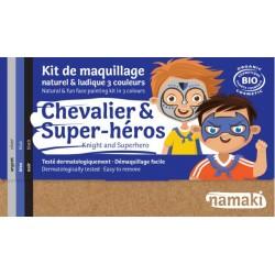 Kit de maquillage Bio 3 couleurs à base d'eau - Chevalier et super-héros