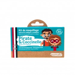 Kit de maquillage Bio 3 couleurs à base d'eau - Pirate et Coccinelle