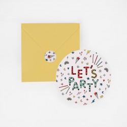 8 invitations - Happy Birthday