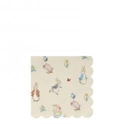 20 petites serviettes - Peter Rabbit