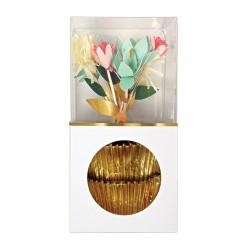 Kit cupcake fleurs