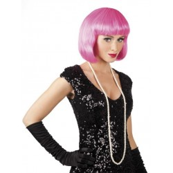 Perruque Cabaret icy pink