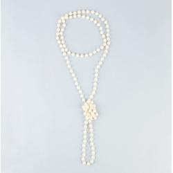 Collier grande perle blanche