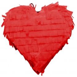 Pinata à tirer coeur rouge
