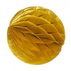 3 boules alvéolées or diamètre 8 cm
