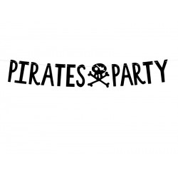 """Guirlande """"Pirates Party"""" - Noir"""