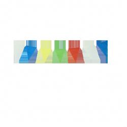 Guirlande fanions en papier - Multicolore
