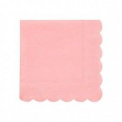 20 petites serviettes - Corail