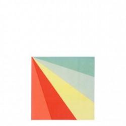 20 petites serviettes - Multicolore