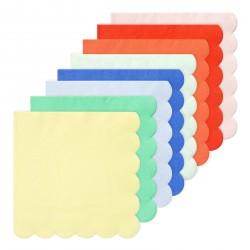 20 petites serviettes - pastel (8 coloris)