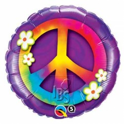 Ballon aluminium - Peace & Love