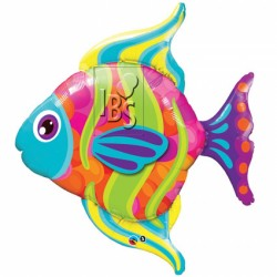 Ballon aluminium géant - Poisson tropical 100 cm