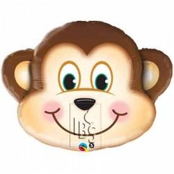 Ballon aluminium - Tête de singe