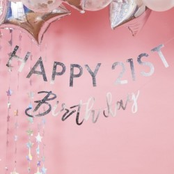 Guirlande Happy Birthday à customiser - Iridescent