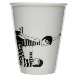Cup - Flying couple
