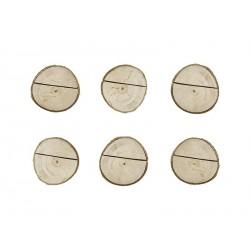 6 marques place en bois