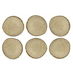 6 pose marques place en bois
