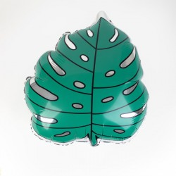 Ballon aluminium - Feuille tropicale