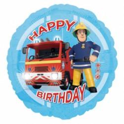 Ballon aluminium - Happy birthday pompier