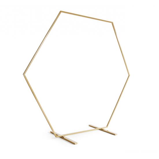 Arche géante hexagone - Or