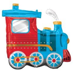 Ballon aluminium - Train locomotive