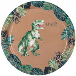 8 assiettes dinosaure rawr