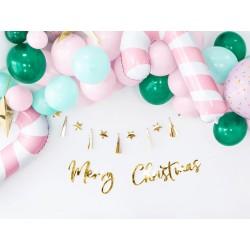 Guirlande Merry Christmas - Or