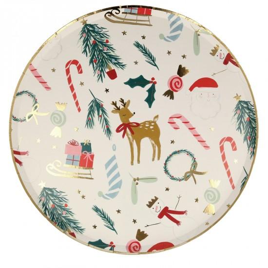 8 assiettes - Noël festif