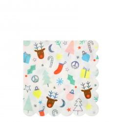 16 serviettes - Noël fun