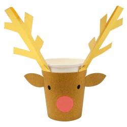 8 gobelets - Renne de Noël