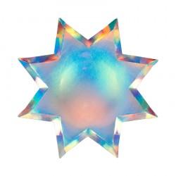 8 assiettes - étoile hollographique
