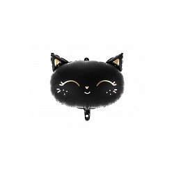 Ballon aluminium - Tête de chat noir