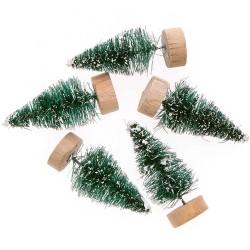 5 sapins de Noël vert - 5cm