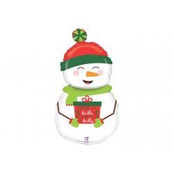 Ballon aluminium Noël - Bonhomme de neige géant