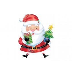 Ballon aluminium Noël - Père Noël cadeaux