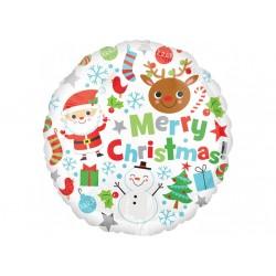 Ballon aluminium Noël - Merry Christmas décor