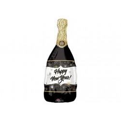Ballon aluminium Happy New Year - Champagne