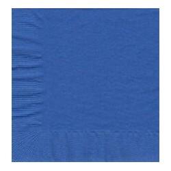 50 serviettes en papier - Bleu de Cobalt